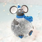 """Новогодний шар """"Мышонок"""" с массой для лепки"""