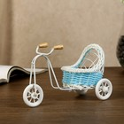 "Basket decorative ""Bike with sidecar"" blue 9,5х16х6,5 cm"