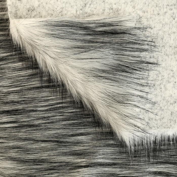Длинноворсовый мех 100% полиамид, плотность 480г/м2, 50*53 см (песец)