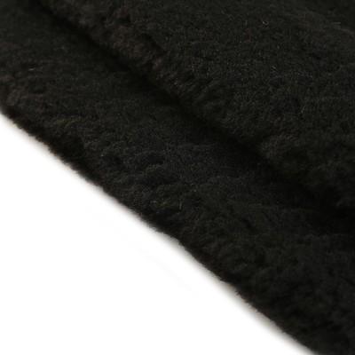 Мех искусственный 100% полиамид (имитация овчины) плотность 380г/м2, 50*53 см (черный)