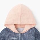 """Комбинезон Крошка Я """"Джинс"""", синий/розовый, р.26, рост 74-80 см - фото 105475541"""