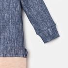 """Комбинезон Крошка Я """"Джинс"""", синий/розовый, р.26, рост 74-80 см - фото 105475543"""