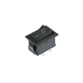 Клавишный выключатель, 250 В, 6 А, ON-OFF, 2c, черный