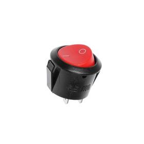 Клавишный выключатель круглый, 250 В, 6 А, ON-OFF, 2c, красный Ош