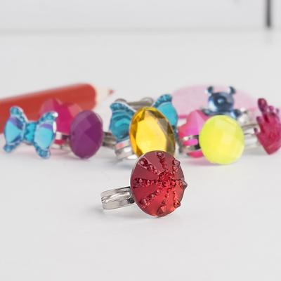 "Ring children's ""Vibracula"" joy, shape, MIX, MIX color in silver"
