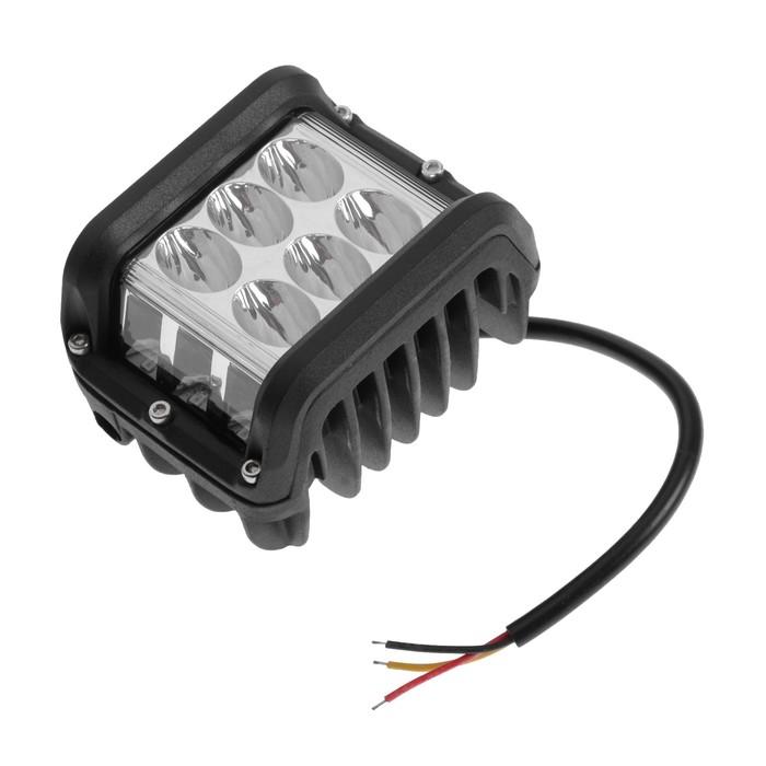 Противотуманная фара 12 LED (6 белых, 6 желтых), IP67, 36 Вт, 9-30 В, направленный свет
