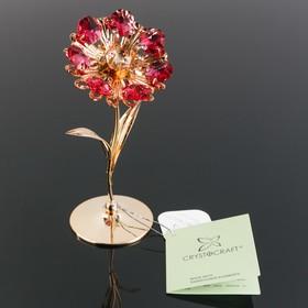 Сувенир «Цветок», 5×5.5×13 см, с кристаллами Сваровски