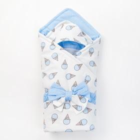 Конверт на выписку «СЛАСТЕНА», серо-голубой, 3 предмета, бязь