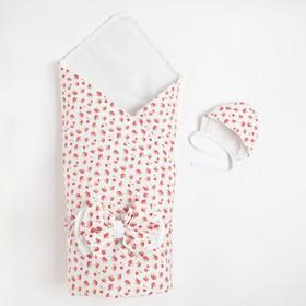 Конверт на выписку «Флоранс», розовый, 3 предмета, поплин