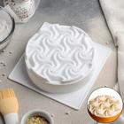 Форма для муссовых десертов и выпечки «Вихрь», 17,5×5,5 см, цвет белый