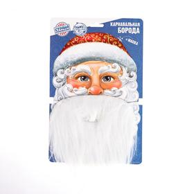 Карнавальная борода «Ваш Дед Мороз», с маской