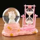 "Clocks ""Unicorn"", with lighting, 17х14х8 cm, mix color"
