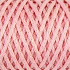 """Шнур для вязания """"Классик"""" без сердечника 100% полиэфир ширина 4мм 100м (св- розовый)"""