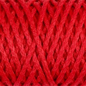 """Шнур для вязания """"Классик"""" без сердечника 100% полиэфир ширина 4мм 100м (т.красный)"""