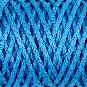 "Шнур для вязания ""Классик"" без сердечника 100% полиэфир ширина 4мм 100м (св.синий)"