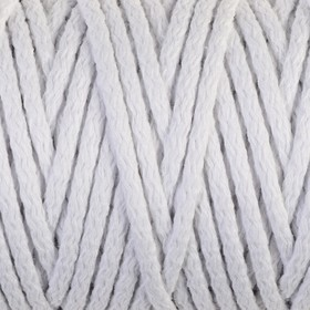 Cord for knitting 100% cotton width 5mm 100m (white)