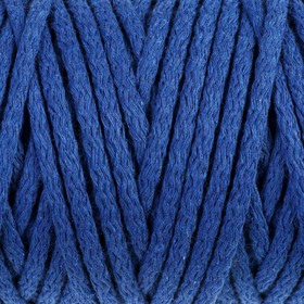 Cord for knitting 100% cotton width 5mm 100m (blue)