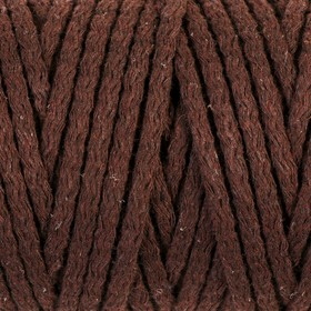Cord for knitting 100% cotton width 5mm 100m (brown)