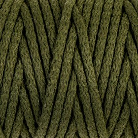 Cord for knitting 100% cotton width 5mm 100m (khaki)