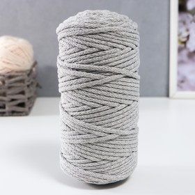 Cord for knitting 100% cotton width 5mm 100m (St. grey)