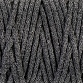 Cord for knitting 100% cotton width 5mm 100m (grey)