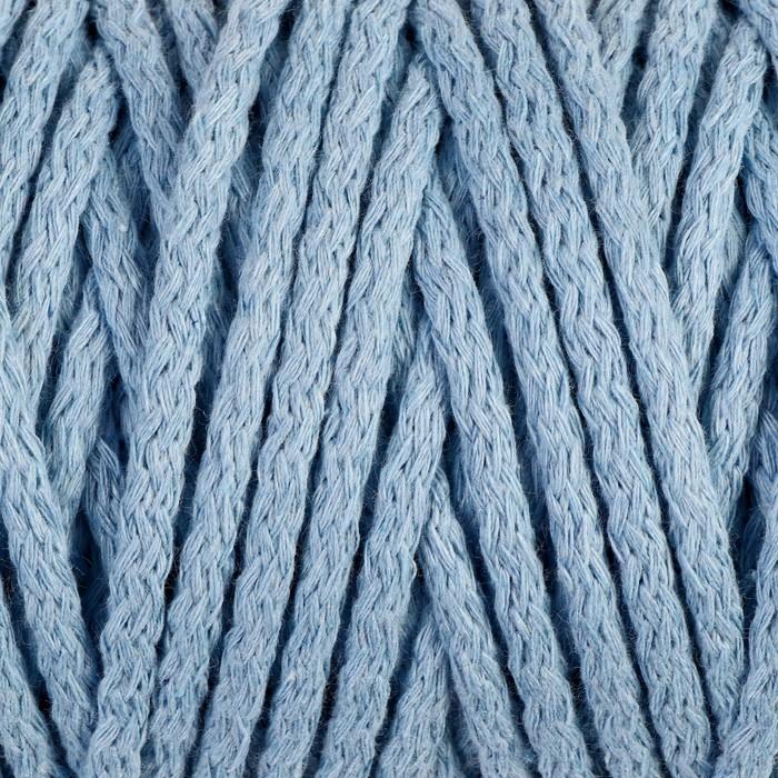 """Шнур для вязания """"Пухлый"""" 100% хлопок ширина 5мм 100м (голубой)"""