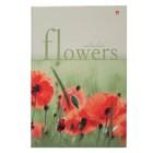 Ежедневник недатированный А5, 128 листов «Цветы», твёрдая обложка, глянцевая ламинация