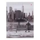 Ежедневник недатированный А6, 128 листов клетка «Город ангелов», твёрдая обложка, глянцевая ламинация