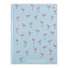 Ежедневник недатированный А6, 128 листов клетка «Фламинго», твёрдая обложка, глянцевая ламинация