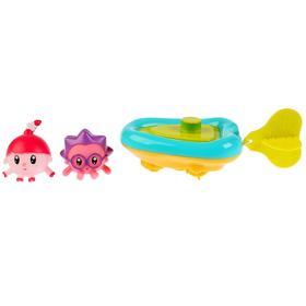 Игрушка для купания «Малышарики, Лодка+Ежик и Нюшенька» 4,5 см