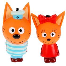 Игрушка для купания «Три Кота, Карамелька+Коржик»