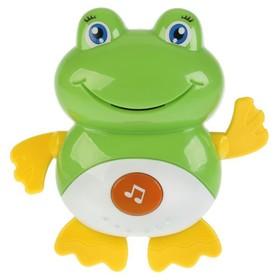 Игрушка для купания «Лягушка» 15 стихов/потешек,учим звуки и голоса животных А.Барто»