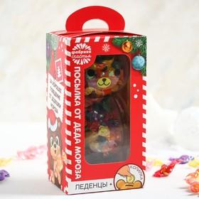 Леденцы «Посылочка от Дед Мороза», в копилке, микс вкусов, 130 г