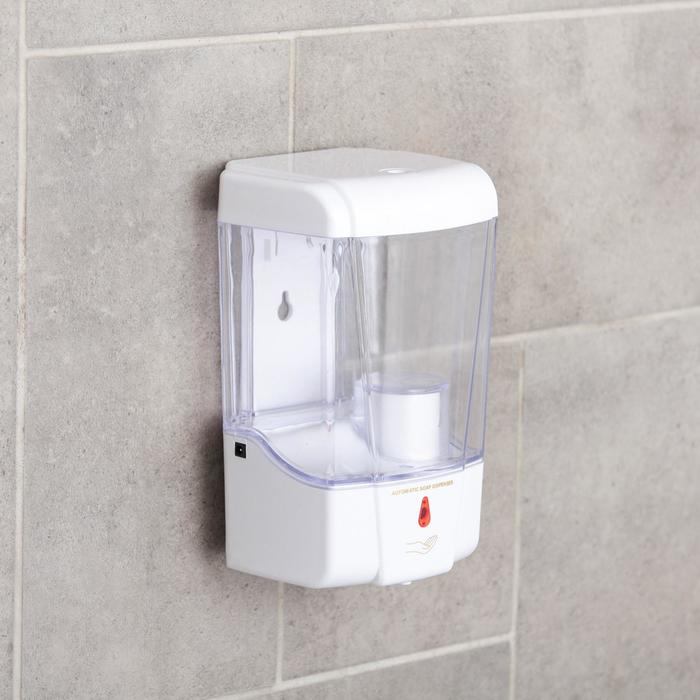 Диспенсер для антисептика/жидкого мыла сенсорный, 600 мл, пластик