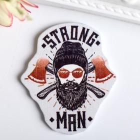 """Декор для творчества дерево """"Strong man"""" набор 10 шт 4х3,3 см"""