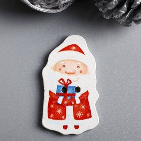 """A set of buttons for creativity tree """"Santa Claus with gift"""" set 15 PCs 3,3x1,9 cm"""
