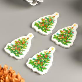 """A set of buttons for creativity tree """"Christmas Tree with candles"""" set 15 PCs 3,5x2,5 cm"""