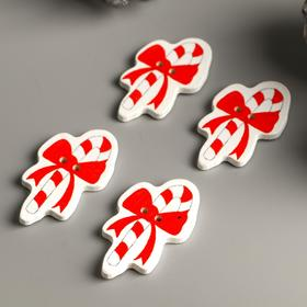 """A set of buttons for creativity tree """"Candy bow"""" set 15 PCs 3,5x2,1 cm"""