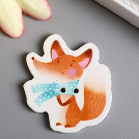 """A set of buttons for tree of creativity """"Shy Fox"""" set 15 PCs 3,4x3 cm"""