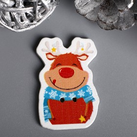 """A set of buttons for creativity tree """"Happy deer"""" 14 piece set of 3,3x2,3 cm"""