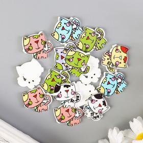 "A set of buttons decorative tree ""Cute kitty"" set 15 PCs MIX 2x2,1 cm"