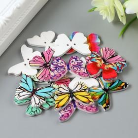 "A set of buttons decorative tree ""Bright butterflies"" set 15 PCs MIX 1,9x2,5 cm"