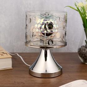 Аромасветильник сенсорный  'Крокус' 1xG4 20Вт хром 13,5х13,5х22 см. Ош