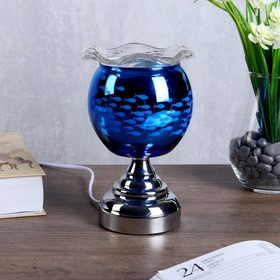 "Аромасветильник сенсорный  ""Океан"" 1xG4 20Вт хром-синий 11х11х18,5 см."