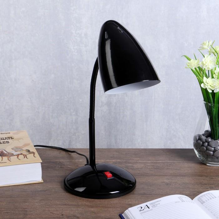 """Лампа настольная """"Ученик"""" 1х60Вт Е27 черный 21х14х34 см."""