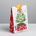 Коробка складная «Подарки под ёлкой», 15 × 7 × 22 см