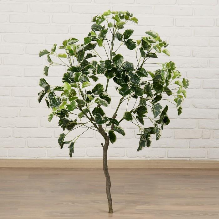 """Дерево искусственное """"Листья с белыми прожилками"""" 110 см"""