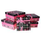 набор коробок 5в1 куб тиснение Отличное настроение