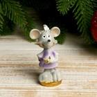 """Souvenir Polyresin """"the Mouse vredinka with coins"""" 6,5x3,8x3,2 cm"""