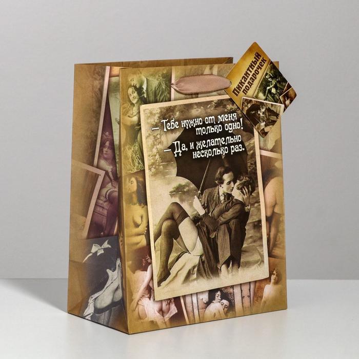 Пакет ламинированный «Желательно несколько раз» интим, MS 18 × 23 × 10 см